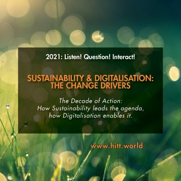 The Power Package: Digitalisation and Sustainability – HITT Think Tank 2021 launches in hybrid form in Munich: Register now!
